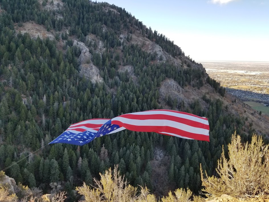 Big Betsy flying high for our Veterans in Coldwater Canyon, North Ogden UT