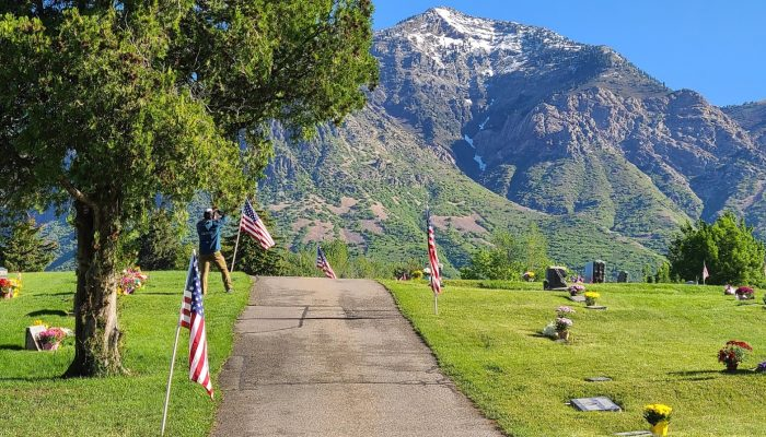 Memorial Day Flag Display at Ben Lomond Cemetery
