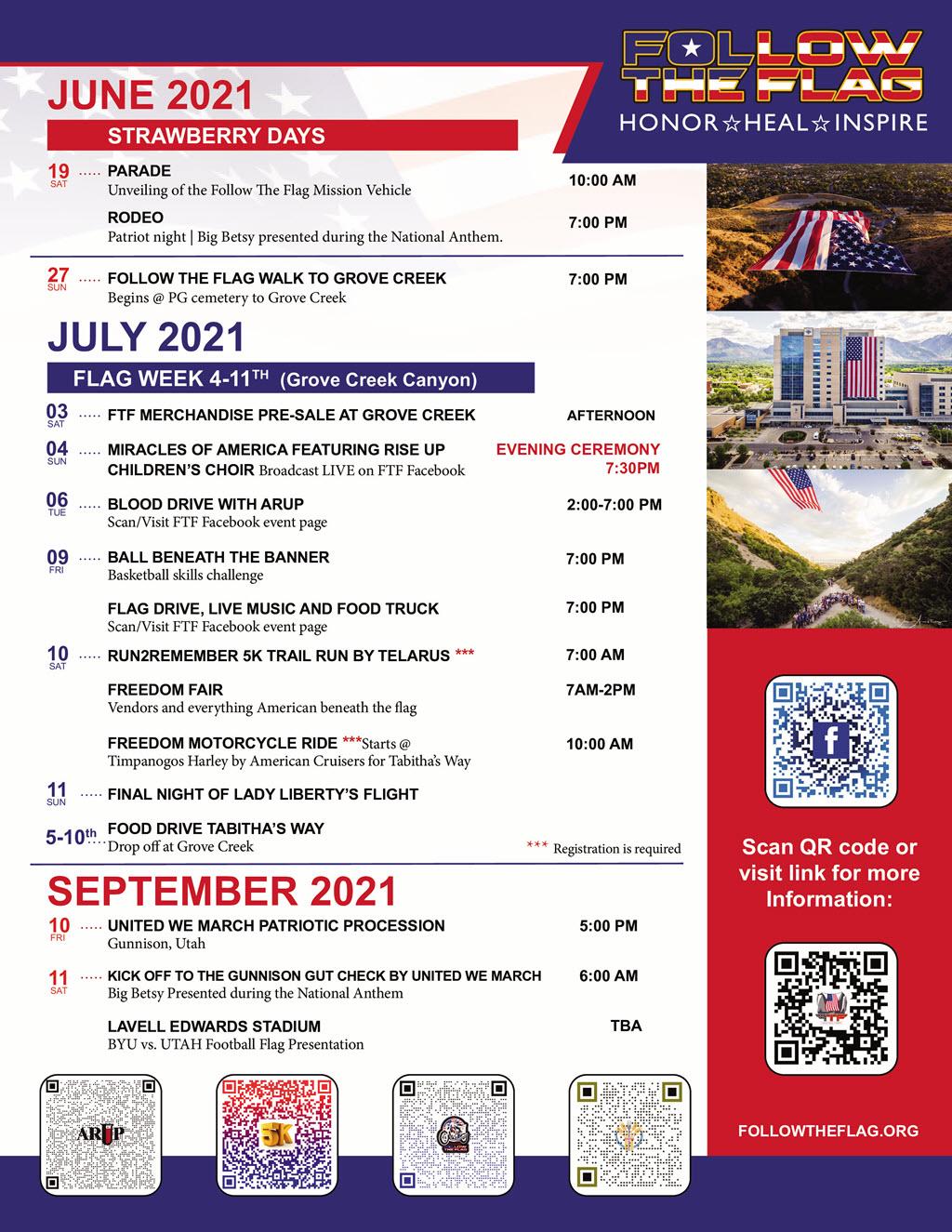 Follow The Flag Events 2021